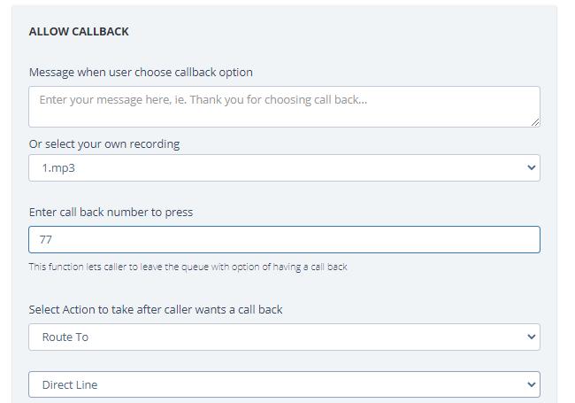 Call Types: Callback