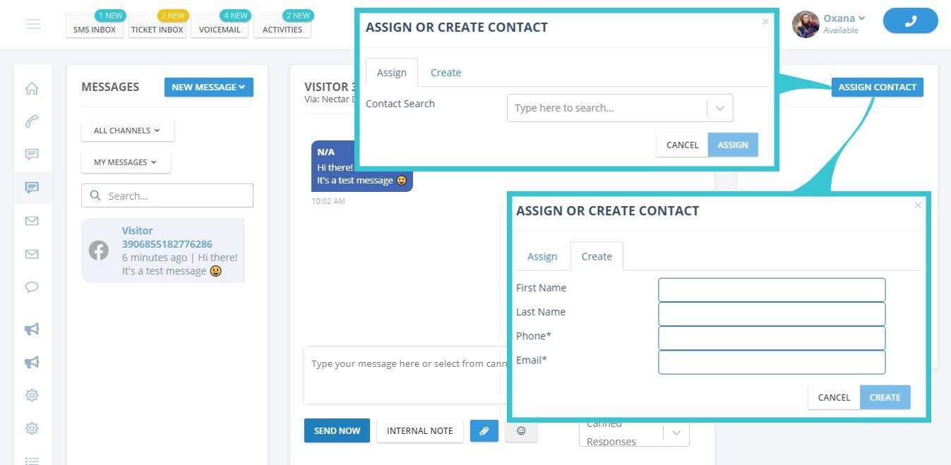 facebook create a contact