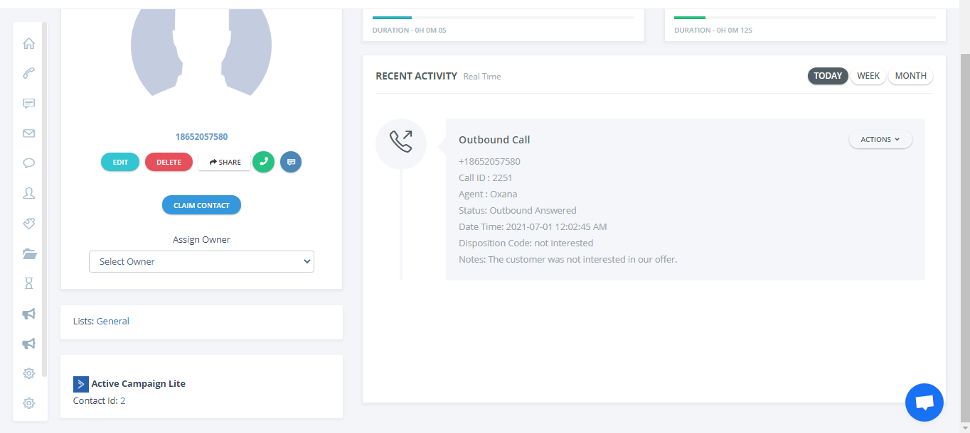 integration with ActiveCampaign