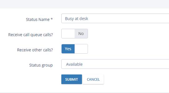 Custom Agent Statuses   Nectar Desk