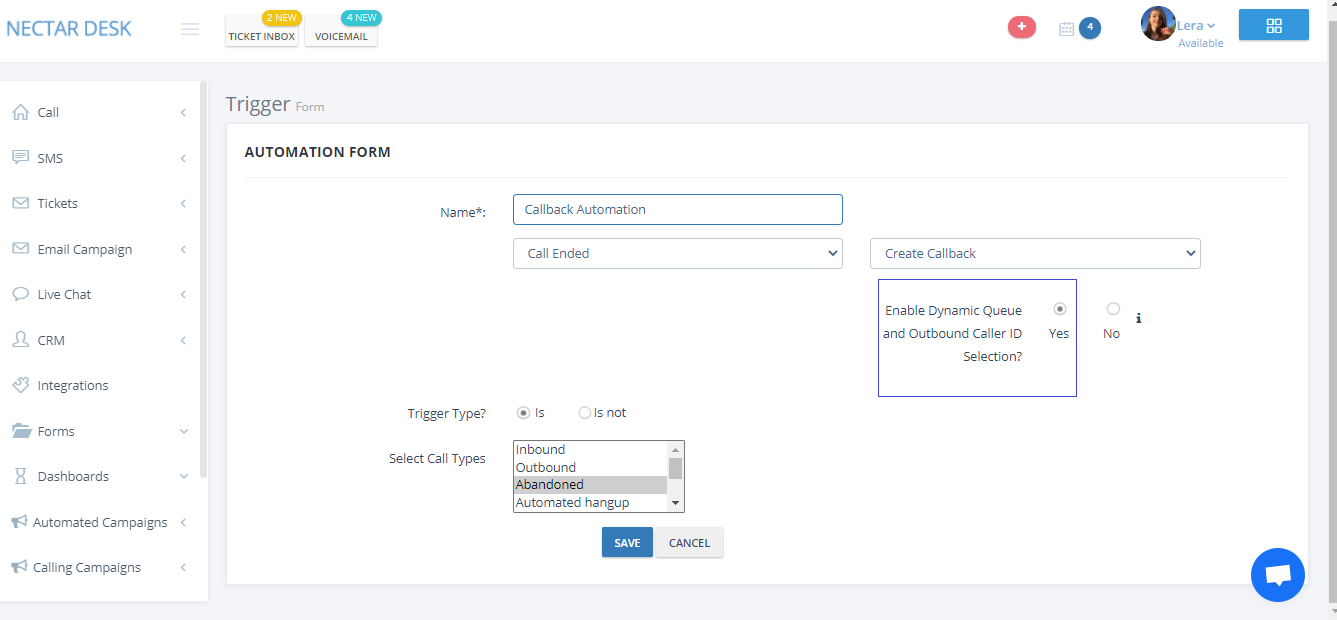 Nectar Desk New Release: Option to Enable Dynamic Queue and Outbound Caller ID selection for Callback Automation